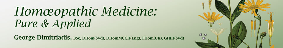 Homeopathic medicine pure and applied banner